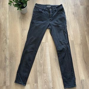 TRISTAN Washed Black High Waist Jeans